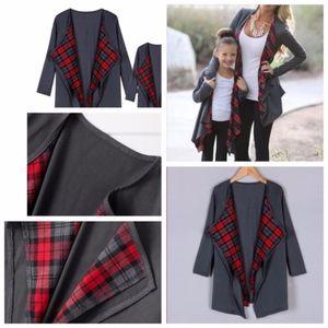 NEW!! Plaid grey cardigan size S